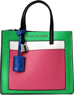 Marc Jacobs The Grind Mini Colorblock Leather Tote, Jade Multi