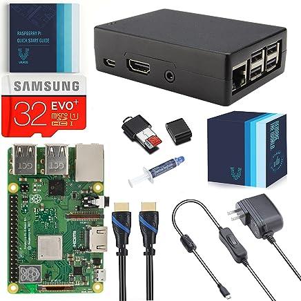 V-Kits Raspberry Pi 3 Model B+ (Plus) Complete Starter Kit with Raspberry Pi Cooling-Heavy Duty Aluminum Case [2018 Model]