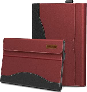 Infiland Samsung Galaxy Tab S5e 10.5 Case, Multi-Angle Business Cover Built in Pocket Compatible with Samsung Galaxy Tab S5e 10.5 Inch Model SM-T720/SM-T725 2019 Release (Auto Wake/Sleep), Dark Red
