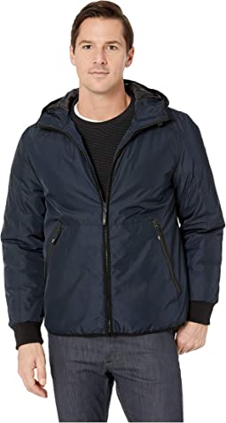 Poly Oxford Hooded Puffer