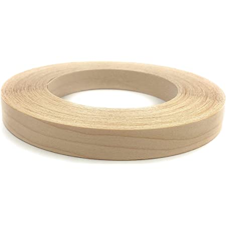 """Edge Supply Maple 3/4"""" X 50' Roll of Plywood Edge Banding – Pre-glued Real Wood Veneer Edging – Flexible Veneer Edging – Easy Application Iron-on Edge Banding for Furniture Restoration – Made in USA"""
