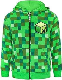 Minecraft - Creeper - Felpa ufficiale con cappuccio - Bambino