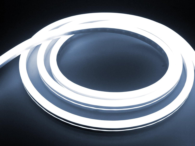 LEDU NeonFlex Pro230 kaltwei (Lnge  14m, 230V LED-Streifen, Neon-Flex LED-Stripe ohne Lichtpunkte, durchgngig Leuchtend, für innen und auen, 9W m, EEK  A, Anschluss  Eurostecker)