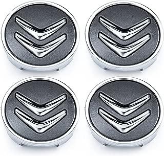Centro De Rueda De Aleación Negro Citroen 4x Tapacubos En Negro C1 C3 C4 DS3 60MM
