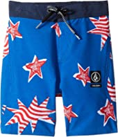 Volcom Kids - Freedom Elastic Boardshorts (Toddler/Little Kids)