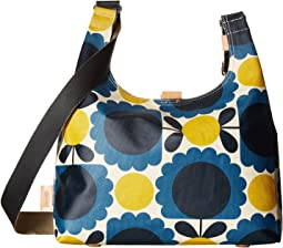 Matt Laminated Scallop Flower Spot Midi Sling Bag