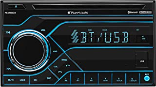 Planet Audio PB475RGB Car Stereo - Double Din, Bluetooth, CD/MP3/USB AM/FM Radio, Multi Color RGB Illumination, Wireless R... photo