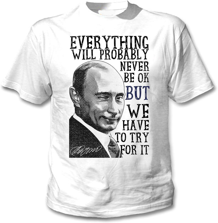teesquare1st Vladimir Putin Never BE Ok Quote Camiseta ...