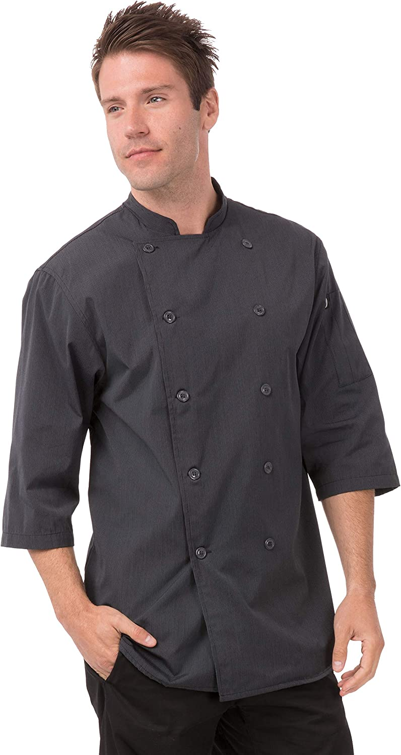 Chef Works Men's Brighton Chef Coat: Clothing, Shoes & Jewelry