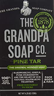 Grandpa's Brands Pine Tar Soap, 4.25 Ounce
