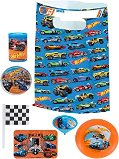 Party City Hot Wheels Basic Favor Supplies for 8 Guests, Include Plastic Favor Bags and a Complete Party Favor Pack