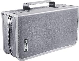 Siveit 128 Capacity CD/DVD Case Wallet, Binder,