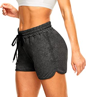 """TNNZEET 3"""" High Waist Shorts for Women - Lounge Activewear Yoga Athletic Workout Casual Shorts"""