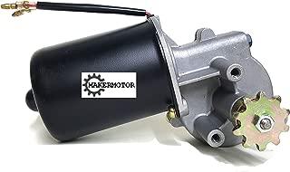 Makermotor Electric Gear Motor 12v Low Speed 50 RPM Gearmotor DC + Roller Chain Sprocket Gear