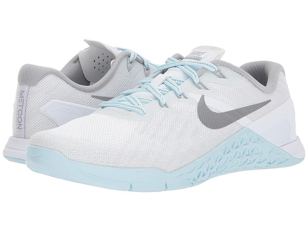 正確さアンペア評判(ナイキ) NIKE レディースランニングシューズ?スニーカー?靴 Metcon 3 Reflect White/Reflect Silver/Glacier Blue 9.5 (26.5cm) B - Medium