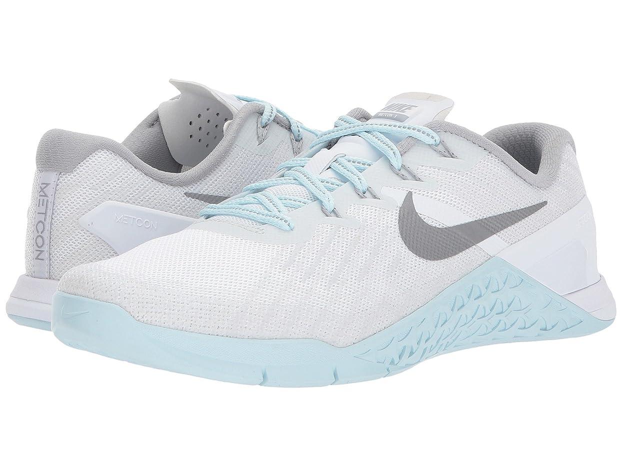 モック不規則なダーベビルのテス(ナイキ) NIKE レディースランニングシューズ?スニーカー?靴 Metcon 3 Reflect White/Reflect Silver/Glacier Blue 11 (28cm) B - Medium