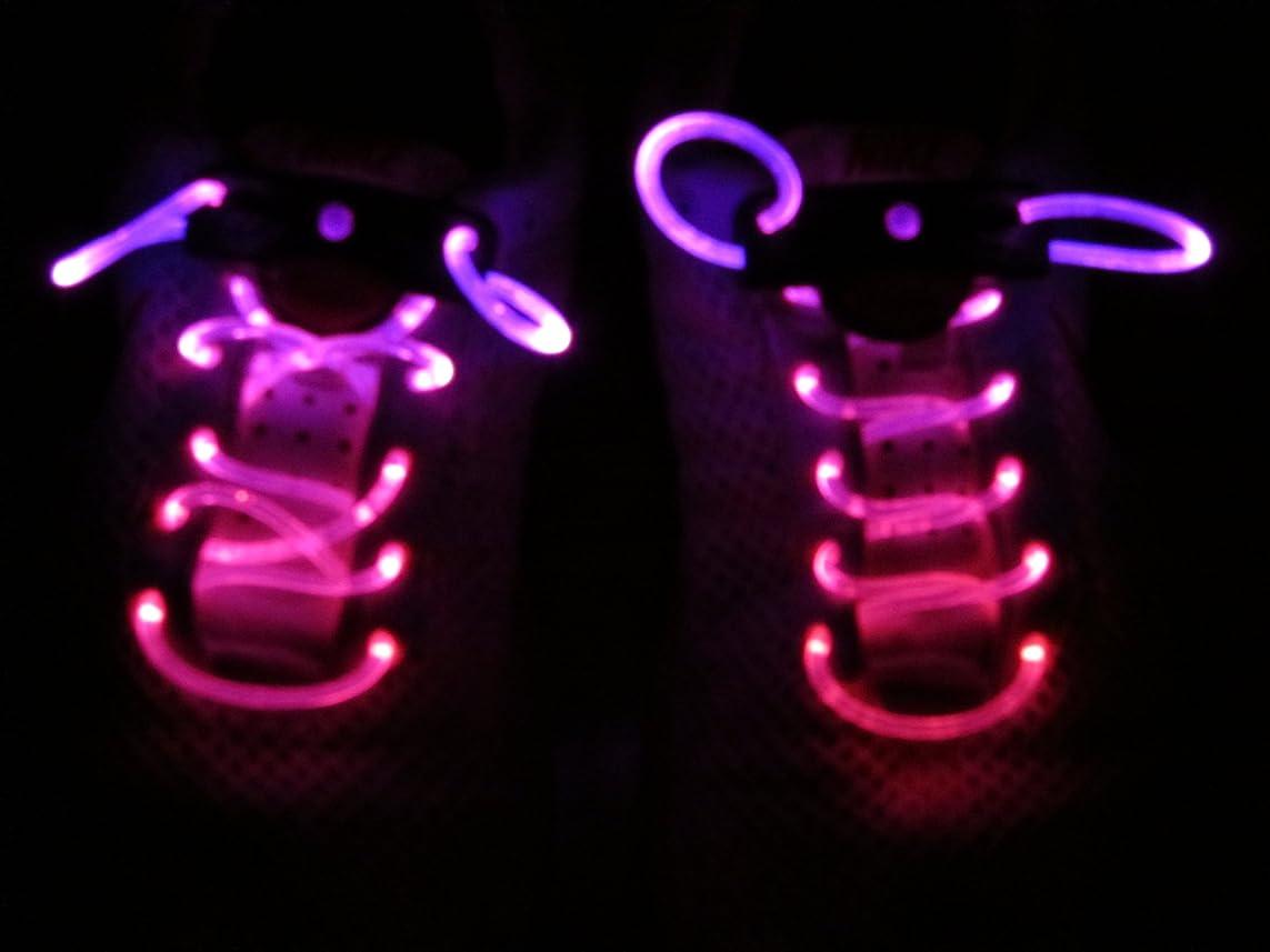 導入するわかりやすいキャリッジ【光る靴ひも】フラッシュ ストリング(マゼンタ) LED ランニングシューズ 靴紐 ピンク