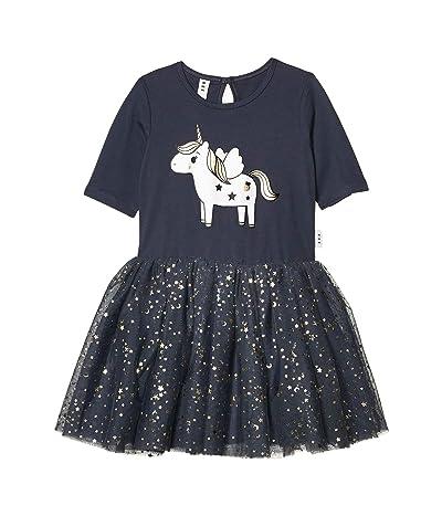 HUXBABY Unicorn Ballet Dress (Little Kids/Big Kids) (Ink) Girl