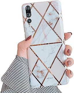Kompatibel med Huawei P20 Pro marmorfodral, kompatibel med Huawei P20 Pro fodral glitter glitter paljett mobiltelefonfodra...