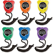 Champion Sports Stopwatch Timer Set: Waterproof, Handheld Digital Clock Sport Stopwatches..