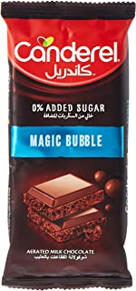 Canderel 0% Added Sugar Bubble Milk Chocolate Slab, 74 gm (Pack of 1)