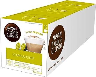 Nescafé Dolce Gusto Boîte í cappuccino, 3 x 30 capsules de lait & café Boîte de 90 capsules Confezione multipla