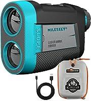 MiLESEEY Uppladdningsbar Golf Avståndsmätare med lutning på/av Omkopplare, Magnetisk Avståndsmätare Golf 660Yds...