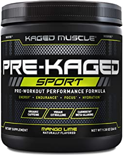 Sponsored Ad - Pre Workout Powder; Kaged Muscle Pre-Kaged Sport Pre Workout For Men And Women, Increase Energy, Focus, Hyd...