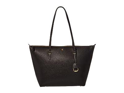 LAUREN Ralph Lauren Merrimack Keaton 31 (Black 1) Tote Handbags