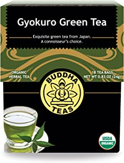 Organic Gyokuro Green Tea – 18 Bleach-Free Tea Bags – Energizing Tea with Caffeine, Invigorating and Stimulating Coffee Al...
