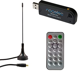 Nooelec NESDR Mini USB RTL-SDR & ADS-B Receiver Set, RTL2832U & R820T Tuner, MCX Input. Low-Cost Software Defined Radio Compatible with Many SDR Software Packages. R820T Tuner & ESD-Safe Antenna Input