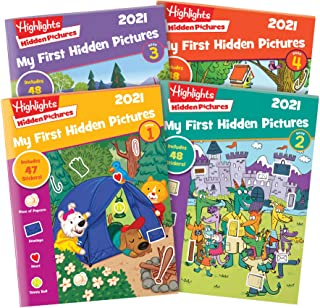 Highlights My First Hidden Pictures 2021 4-Book Set
