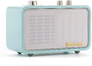 Bluetooth Radio, TRENBADER.COM Bluetooth Speaker with Radio, Portable Speaker for iPhone Samsung Huawei. Wooden Vintage St...