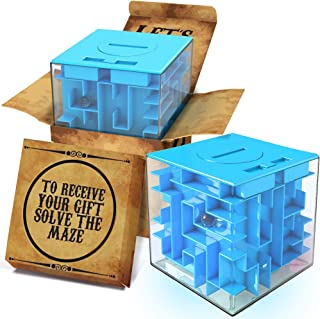 Challenging Money Maze Puzzle Box Blue | Unique Money Storage - with a Well Crafted Package | A Box Full of Surprises ! Mo...