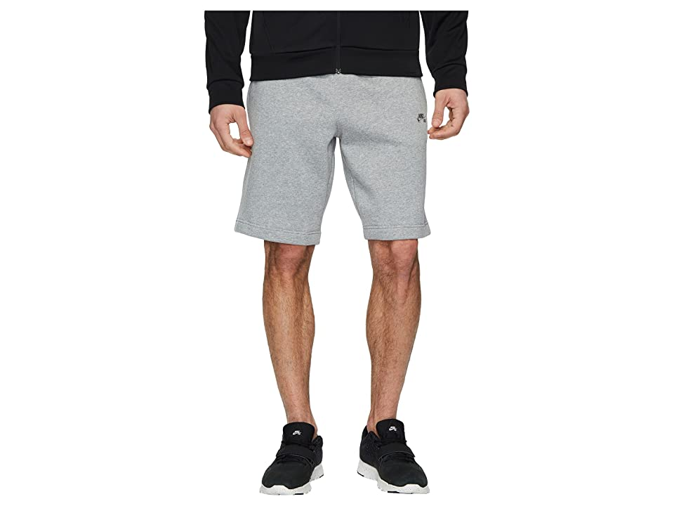 Nike SB SB Icon Fleece Short (Dark Grey Heather/Dark Steel Grey) Men