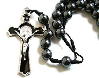 Must Have! Men's Black Hematite Stones Rosary Beads Cross Necklace / Metal Crucifix Chain Pendant Prayer Holy Praying Pray Unique Beautiful Long Fashion Jewelry Bracelet Jesus Beaded Christianity altar vestment tabernacle monstrance religious chasuble catholic jesus thurible infant of prague orthodox santos Lot cassock stole censer ciborium cope shrine st michael pyx holy water medals stations of the cross sacred heart fatima mary surplice alb missal saint michael triptych lourdes olive wood mitre pocket shrine agnus dei holy family relic document black madonna pope francis sick call paten theca Christianity st anthony medal pieta chalkware bishop pall guadalupe reliquary paraments jude prayerbook praying hands nun doll joan of arc blessed santos crown angel statue st george vintage bible lampada christian jewelry risen christ daprato magdalene milagro Rosery last supper breviary
