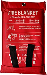 Victosoaring Emergency Survival Fiberglass Fire Blanket Shelter Safety Cover Ideal for The Kitchen, Fireplace, Grill, car, Camping