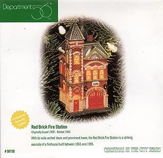 Dept 56 Red Brick Fire Station Ornament