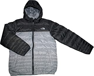 The North Face Youth Boys Reese Down Reversible Hooded Jacket TNF Black/Grey