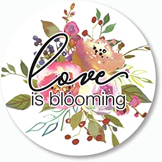 Let Love Grown Stickers, Love is Blooming Wedding and Bridal Shower Event Favor Labels (#379-014BL)