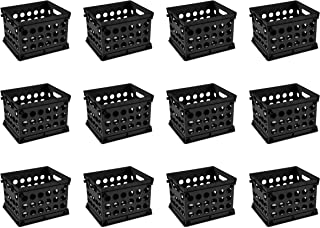 Sterilite 16959012 Mini Crate, Black, 12-Pack