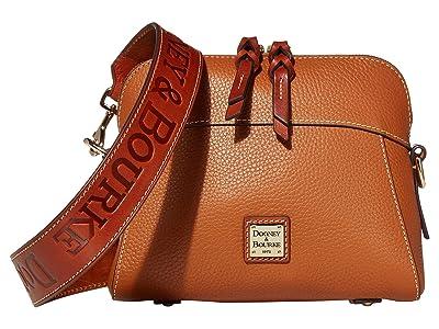 Dooney & Bourke Pebble Cameron Guitar (Caramel/Tan Trim) Handbags