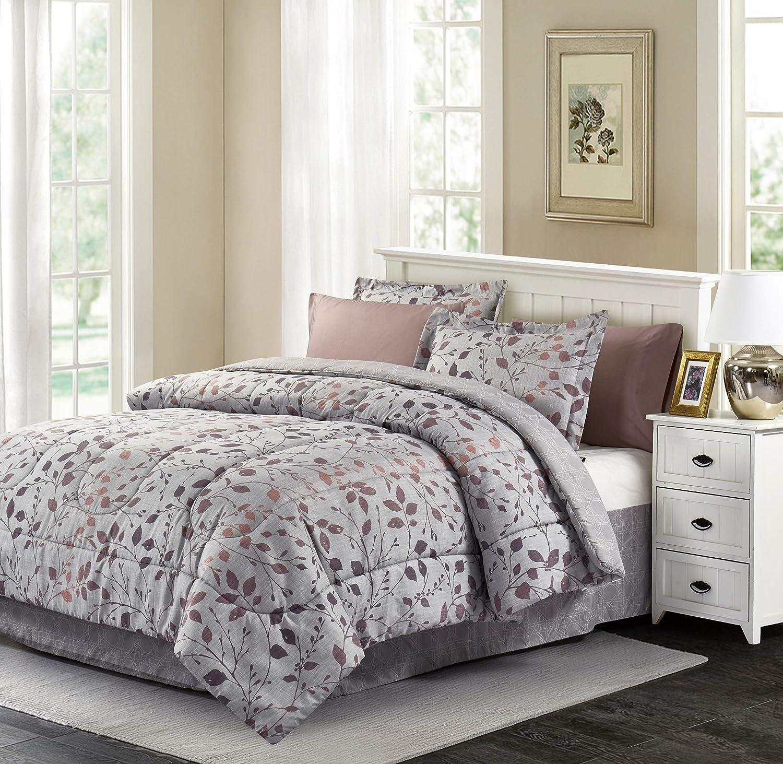Brown & Grey Jean Bed-in-Bag Set, Queen, Grey