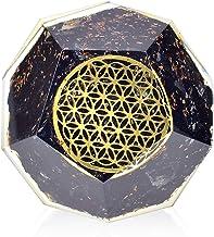Orgonite Crystal – Black Tourmaline Emf Protection Orgone energy Generator- Flower of Life Orgonite Dodecahedron Healing Crystal for – Mood Swing Boost Immune System Chakra Balance