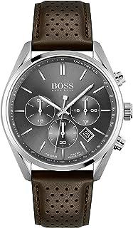 Hugo Boss Reloj Analógico para Hombre de Cuarzo con Correa en Piel de Becerro de Cuero 01513815