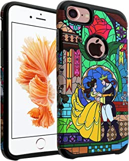 iPhone 7 Case, DURARMOR Beauty and the Beast Case Hybrid Bumper ShockProof Slim Fit Armor Air Cushion Defender Drop Protection Cover for iPhone 7 4.7