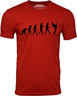 Think Out Loud Apparel Guitar Player Evolution Funny T-Shirt Guitarist Musician Tee T Shirt