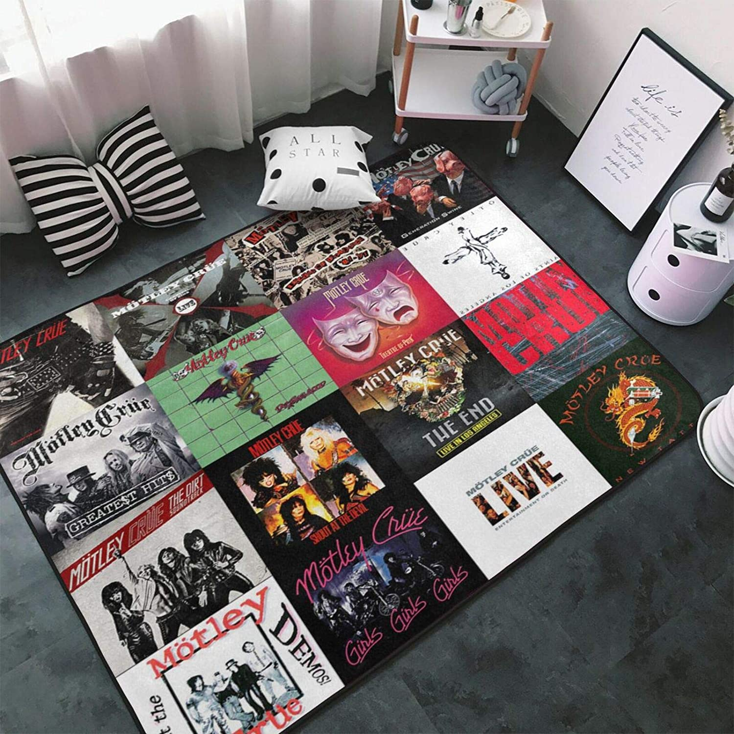 Motley Crue Carpet cheap Area Limited price Rug Fluffy Decor Soft Home Bedroom Rugs