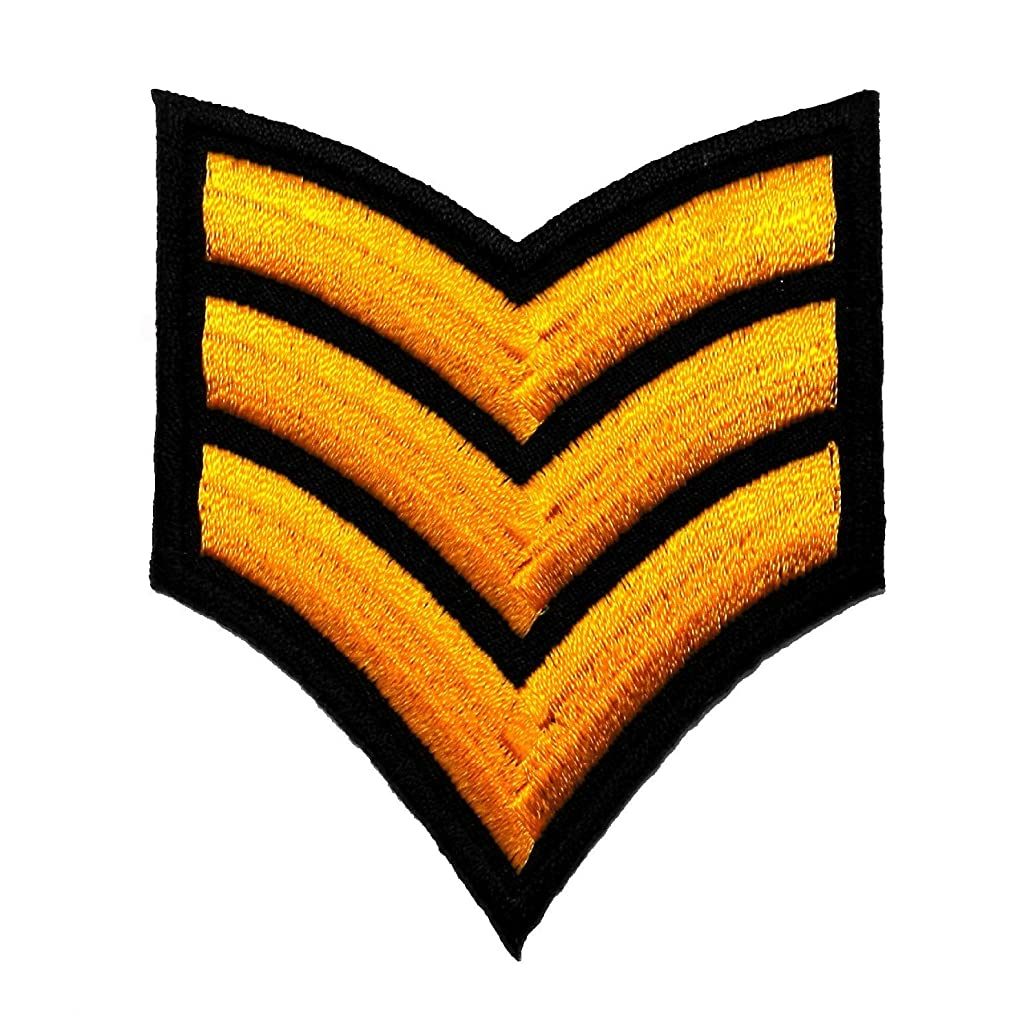 Sergeant Rank Military Army Costume DIY Applique Embroidered Sew Iron on Patch MR-001