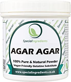 comprar comparacion Agar Agar en Polvo 100g - gelatina superior del vegano de la calidad (etiquetas e instrucciones del español)